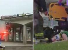 Novorojenček je padal 9 metrov globoko iz mostu, materina super človeška reakcija pa je osupnila reševalce!
