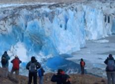 Posnetek ledenika, kako se mu je odlomila cela stena nam dokaže, kako globalno segrevanje vpliva na našo Zemljo!