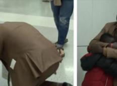 Begunec ni videl svoje družine več let... Družina ga pričaka na letališču. Njegova reakcija, ko jih zagleda je neverjetna!